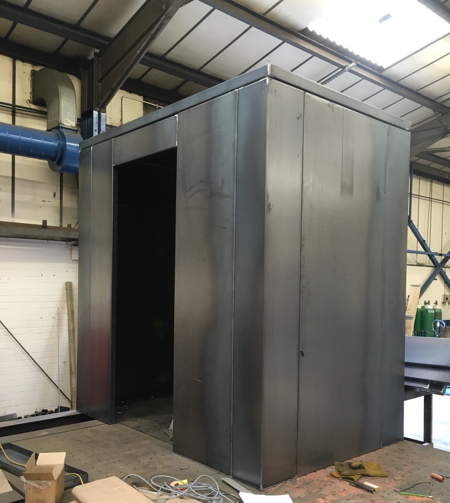 panic room ballistic steel construction