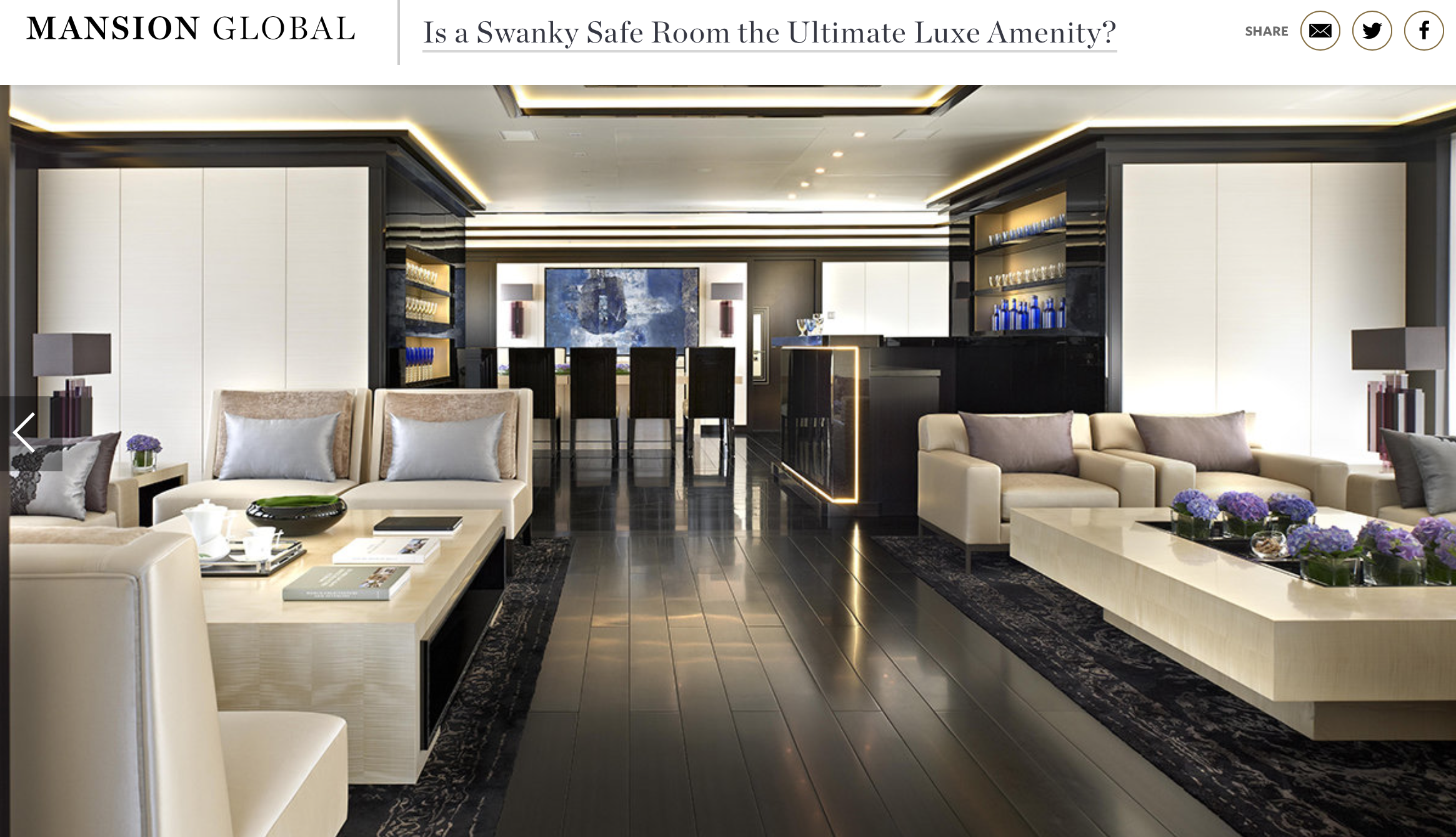 Is a swanky safe room the ultimate luxe amenity?
