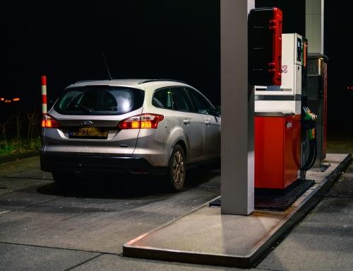 Petrol station personnel seek refuge in safe room